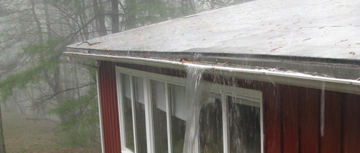 Overflowing Gutters and Downspouts